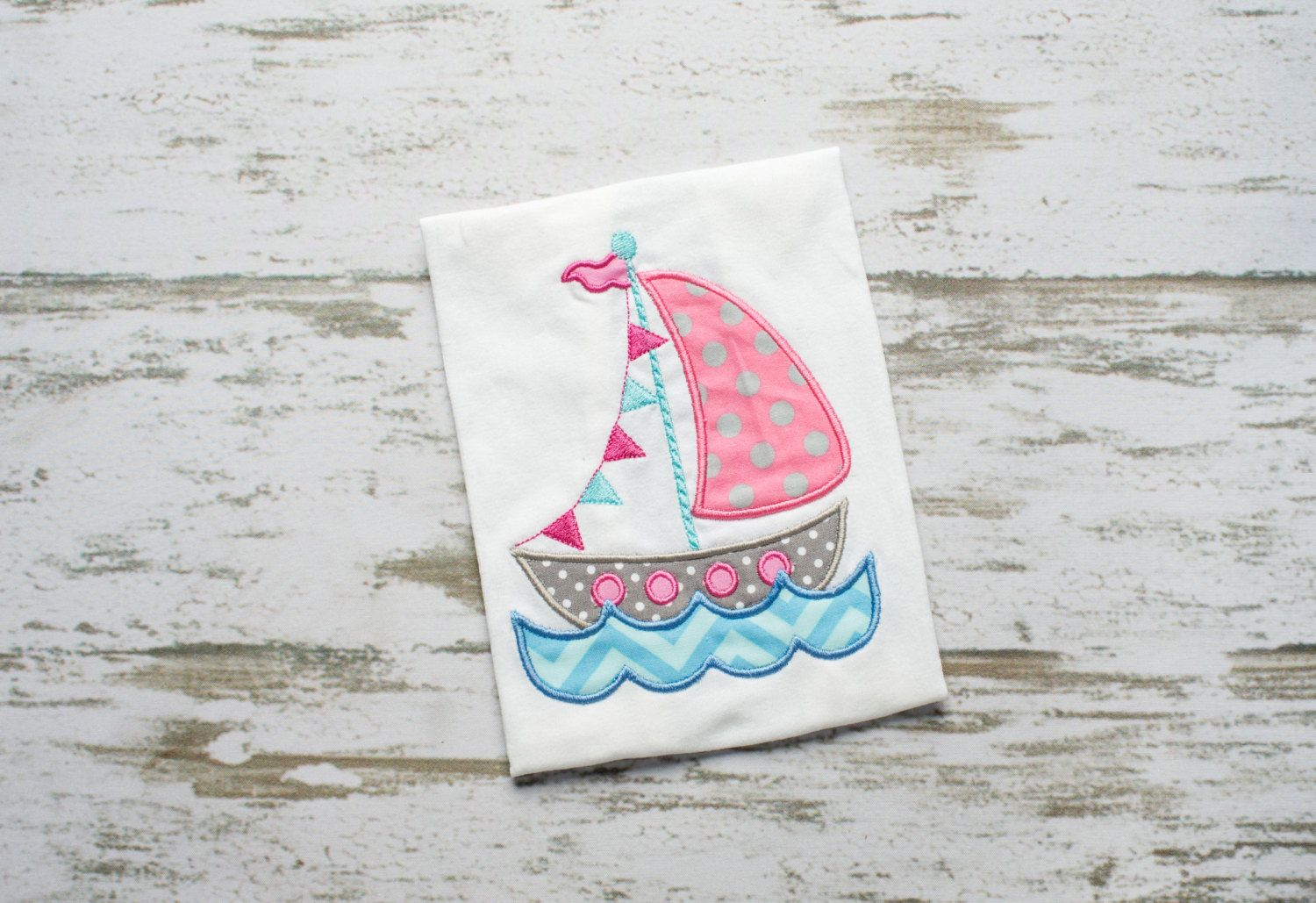 Flag Sailboat with Water Appliqué Embroidery Design 4x4, 5x7, 6x10 by AppleDumplinDesign on Etsy https://www.etsy.com/listing/227944057/flag-sailboat-with-water-applique