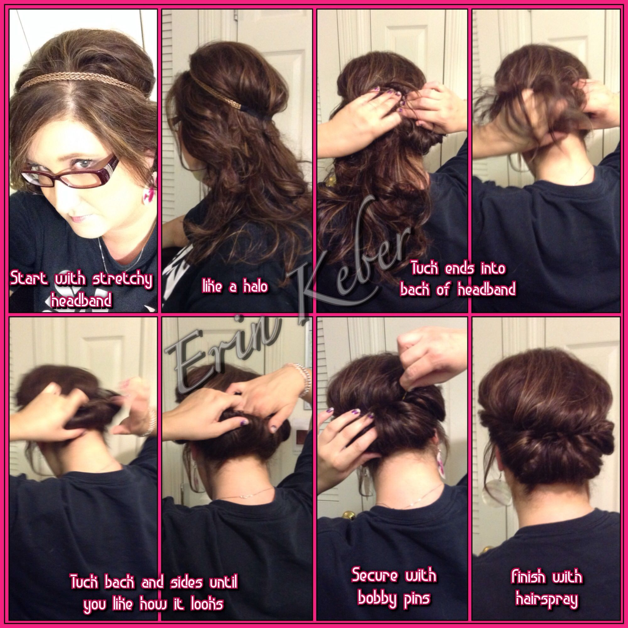 A quick easy hairstyle for medium to long length hair hair