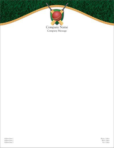 Personalized Letterhead Designs Sports  Fitness Letterhead Page