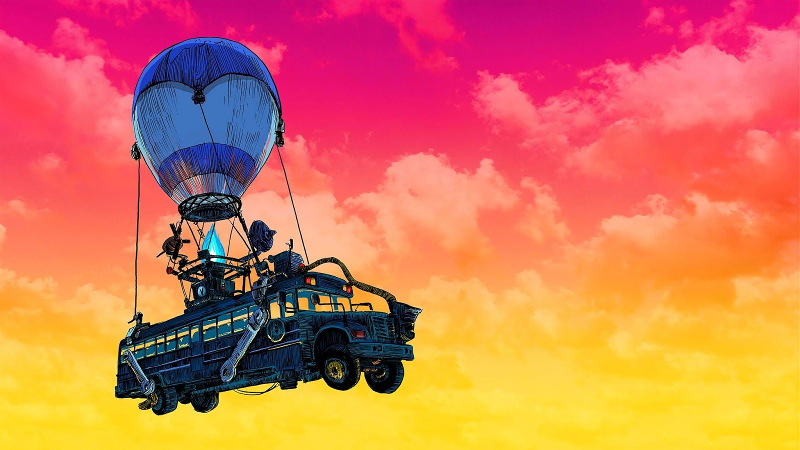 Fortnite Bus Wallpaper In 4k In 2020 With Images Bus Art