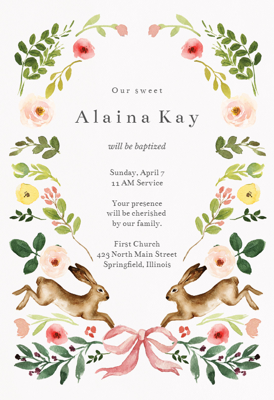 Spring Bloom Invitation Template Customize Add Text And Photos