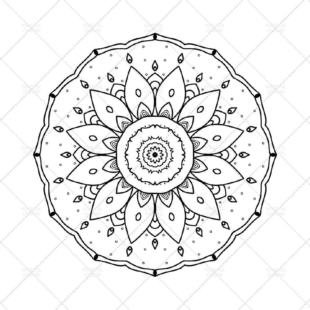 Mandala Disegno Da Colorare N 2 Scaricamento Instantaneo Pdf