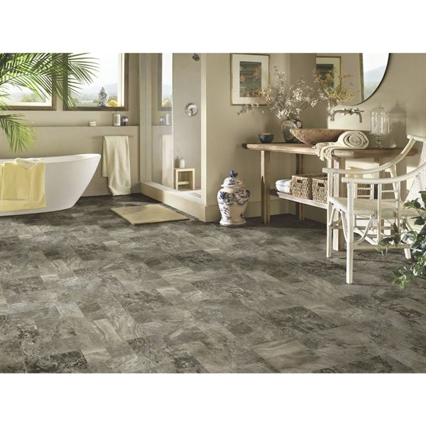 Shop Armstrong 12 Ft Whisper Grey Low Gloss Sheet Vinyl At Lowe S Canada Find Armstrong Flooring Vinyl Flooring Flooring