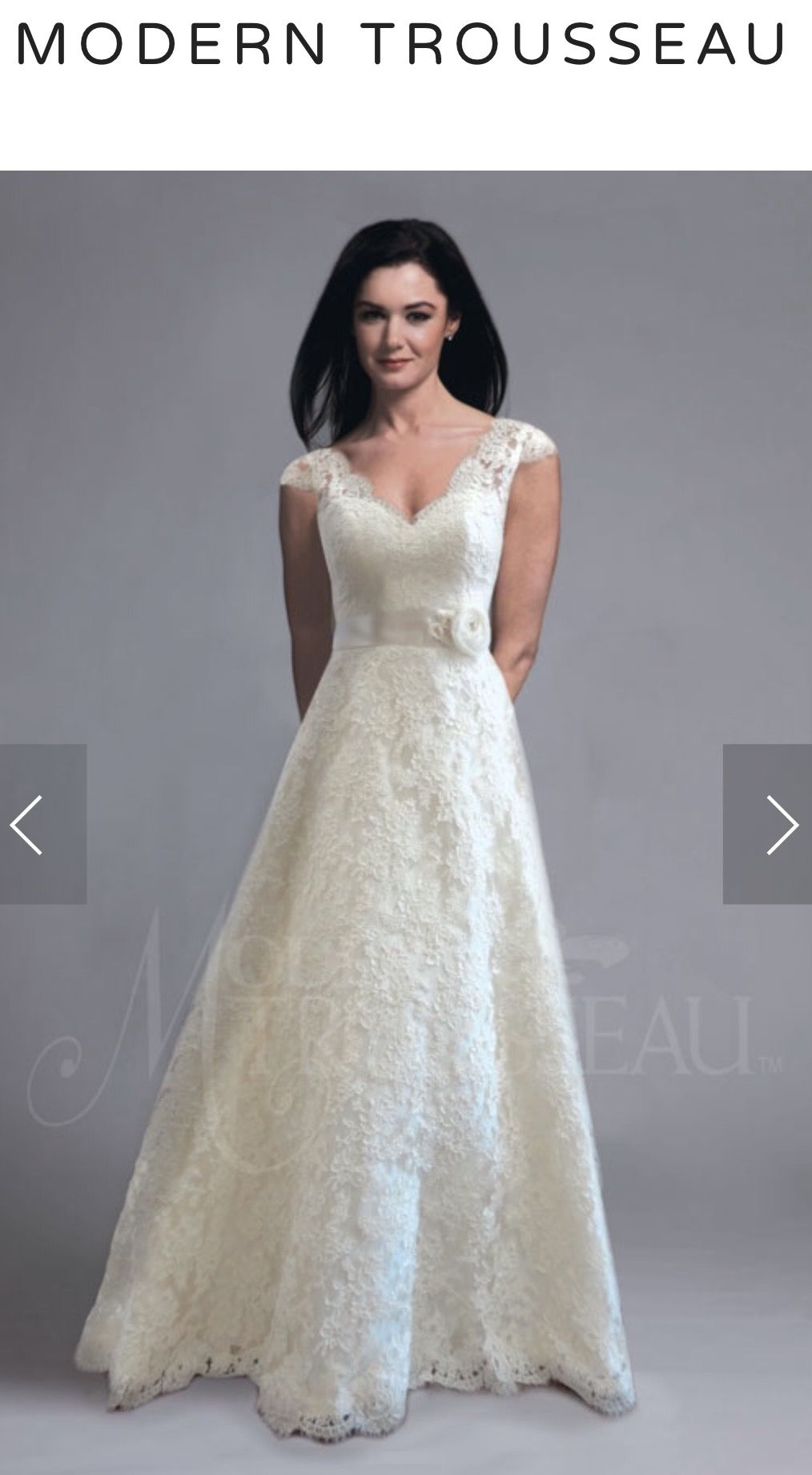 Neckline and lace sleeves obviously not the rose belt at kinsley
