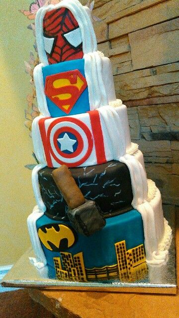 Hidden Superhero Behind A Traditional Wedding Cake By Sweet Blessings Lou More