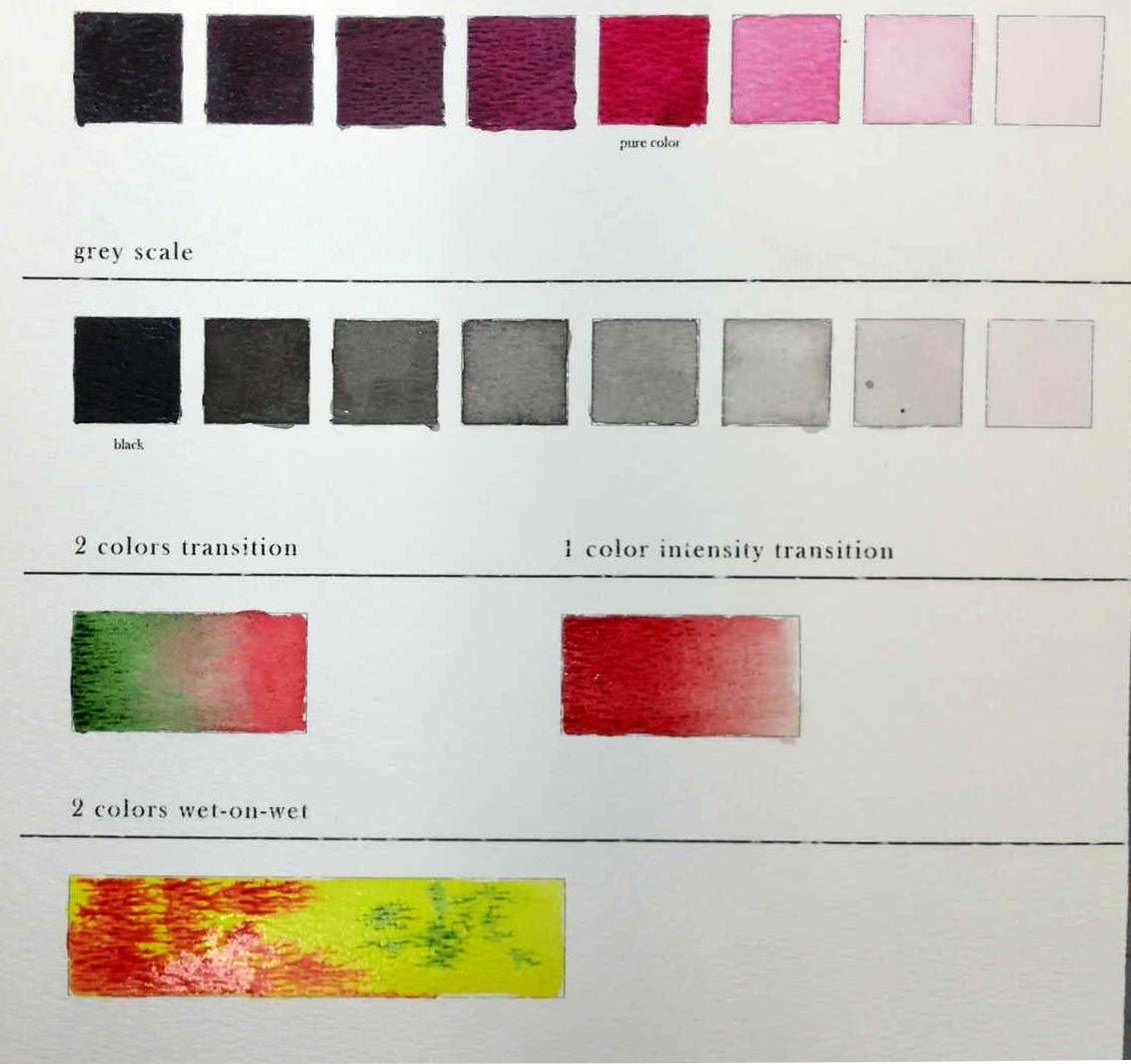 Watercolor Worksheet In