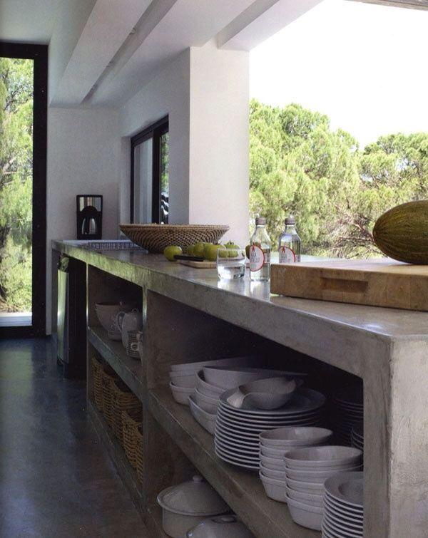 Bancada Da Cozinha De Cimento Queimado Cozinha Elegante