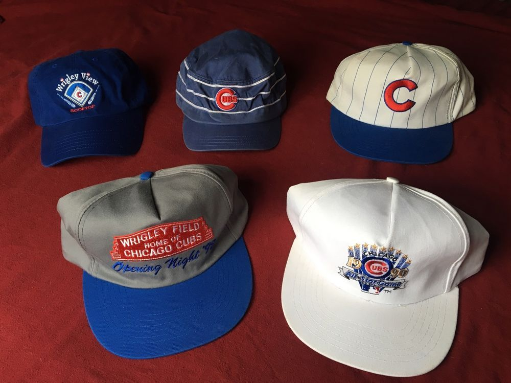 1990 All-Star game Cubs hat. Cubs stadium free giveaway hat. This is an  excellent cook collection for any Cubs fan. Some of these hats you can only  get it ... d5298b987a8
