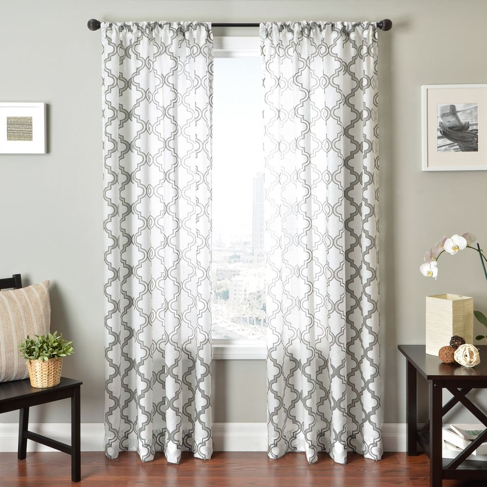 Penby burnout rod pocket curtain panel overstock shopping great