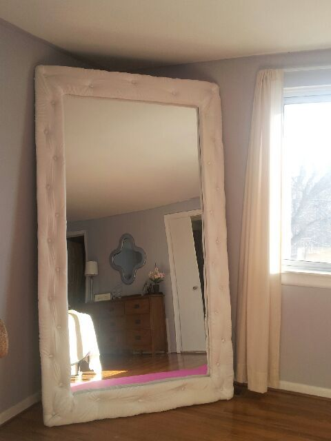 My DIY tufted mirror | My Home DIY | Pinterest