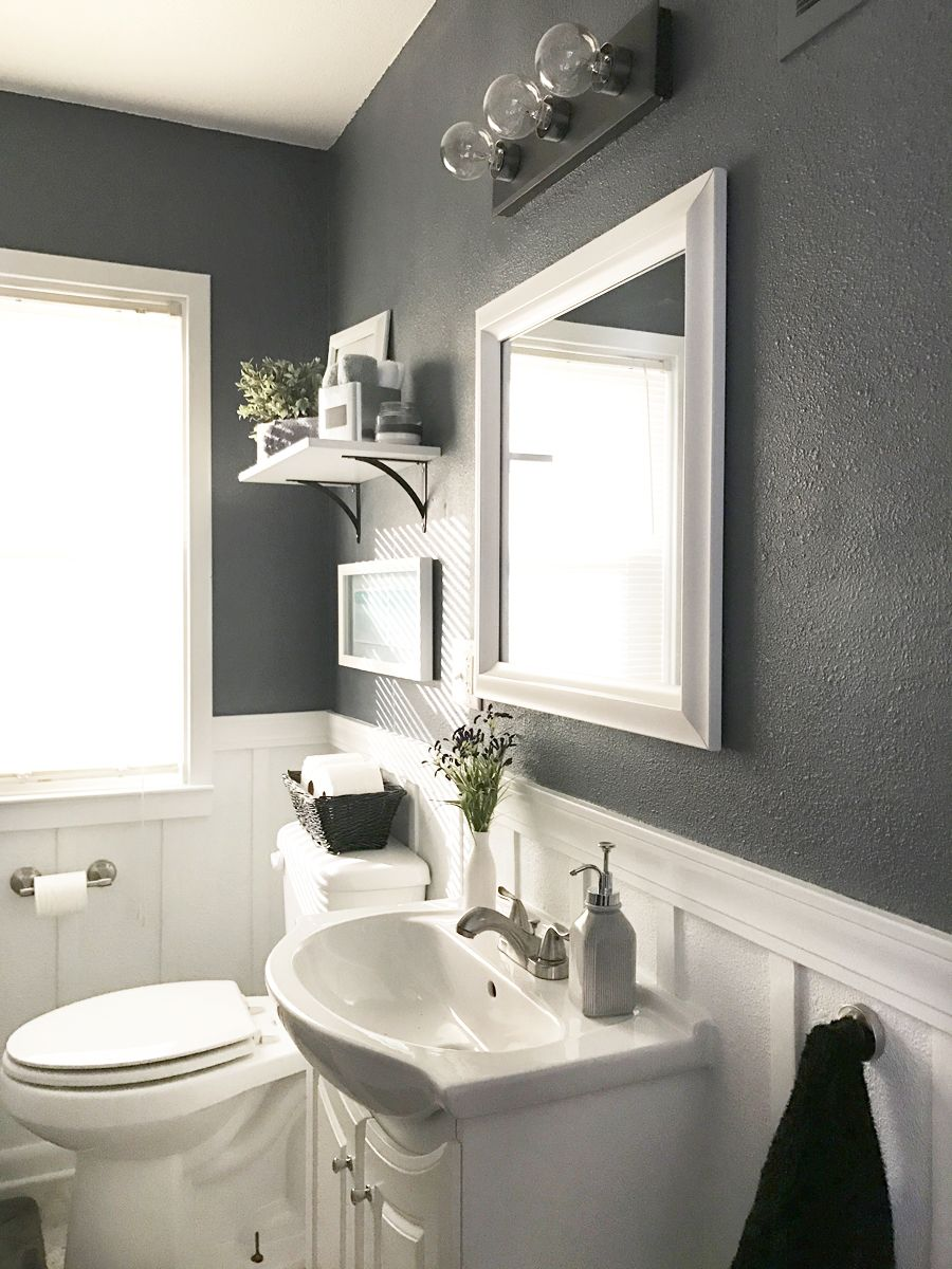 Take The Tour: Neutral Calm Bathroom Reveal | Grey bathrooms, Batten ...