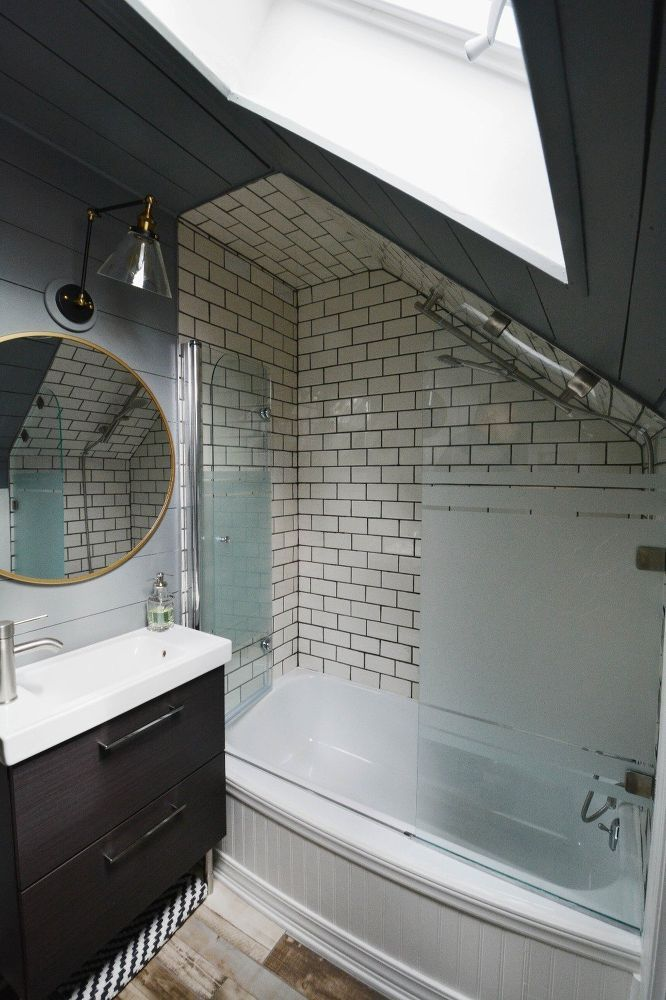 Tiny Attic Bathroom Gets A DIY Update