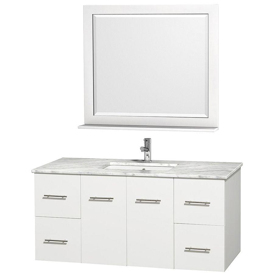 Shop Wyndham Collection Centra White Undermount Single Sink Oak Classy Shop Bathroom Vanities 2018