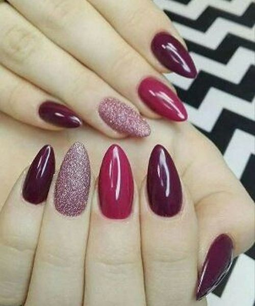 Hot Hot Red And Glitter Prom Nail Art Designs 2018 To Look Awesome