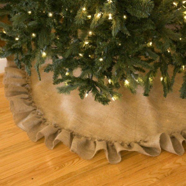 15 Gorgeous Christmas Tree Skirts That Only Look Expensive Rustic Christmas Crafts Burlap Crafts Burlap Tree Skirt