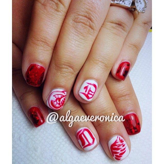 Detroit red wings by algaeveronica nail nails nailart nails detroit red wings by algaeveronica nail nails nailart prinsesfo Choice Image