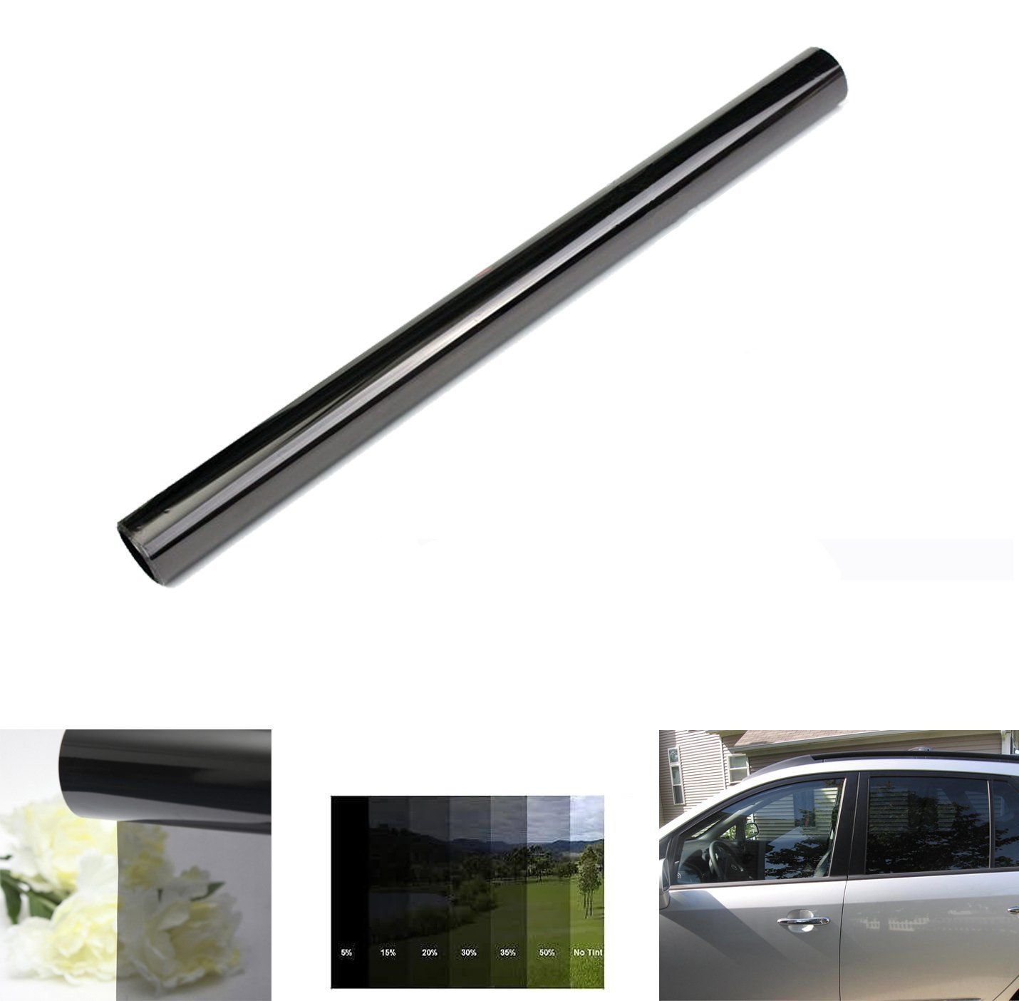 35 Vlt Black Tint Film Car Window Home Office Pro Roll Uv Protection 30 X 23ft Vlt Black Tint Film Car Window