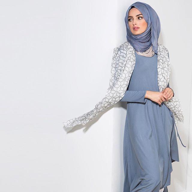 Asymmetric Midi paired with Serenity & Vanilla Chiffon Silk Hijab Printed…