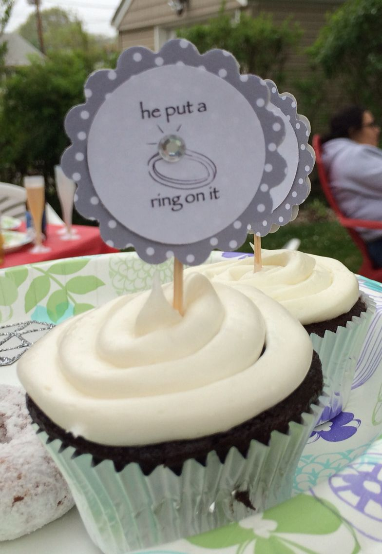 Cupcake topper for a friend's engagement party