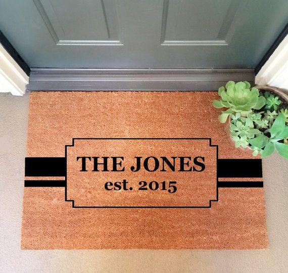 Custom Family Doormat Large 24 Quot X 35 Quot Heavy Duty Coir Doormat Welcome Mat Door Mat Door Mat Door Mat Diy Front Door Mats