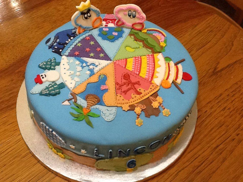 Kirby Epic Yarn Birthday Cake For A Six Year Old Boy Cody Birthday