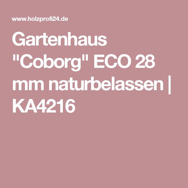 Gartenhaus ECO 28 mm naturbelassen KA4216