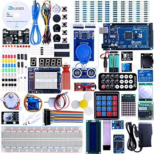 Electronic Fun Kit for Arduino Raspberry Pi Updated Kit with Power Supply Module