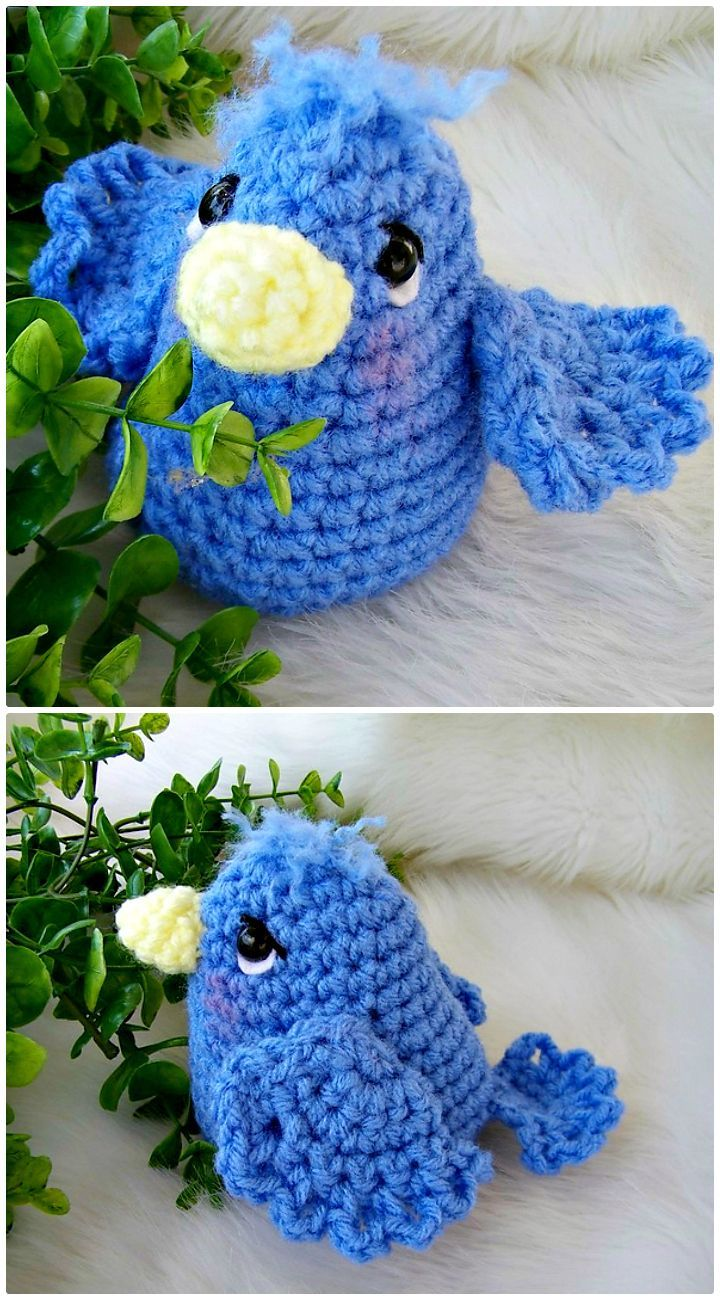 Here are Free Crochet Bird Patterns that are lovey, easy to crochet ...