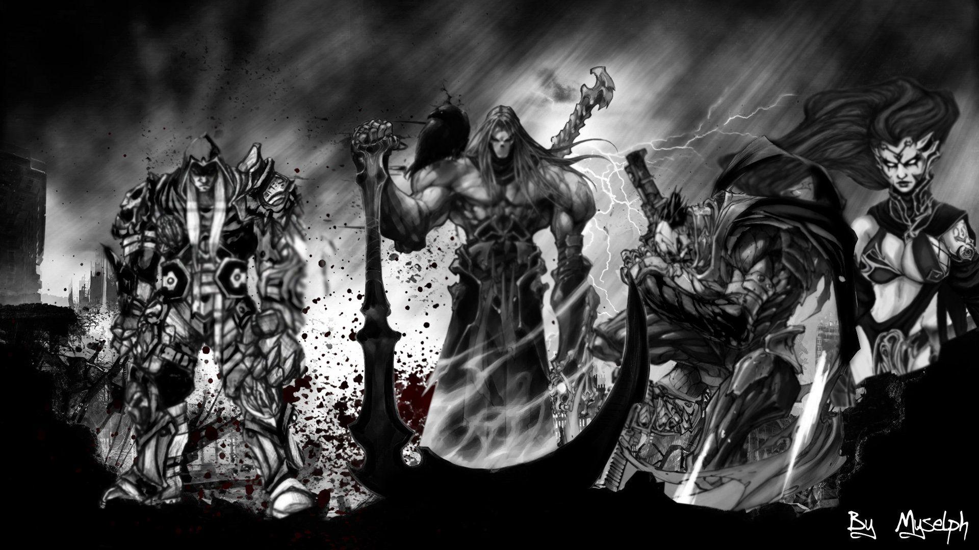 Pin De Alan Cruces En Darksiders Imagenes Epicas Dibujos