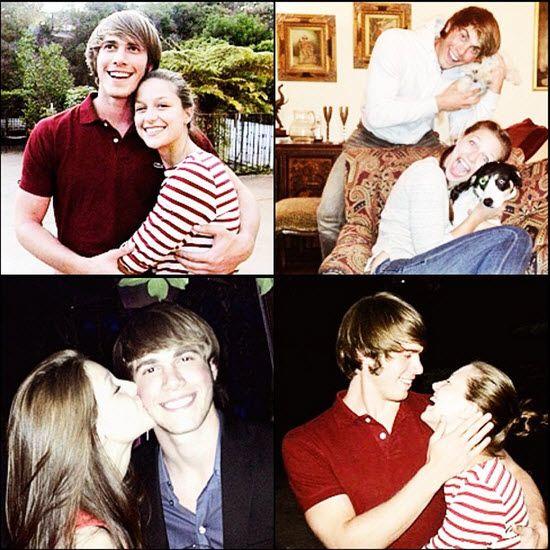 Newly Engaged Blake Jenner And Melissa Benoist Get Cuddly On Camera Blake Jenner Melissa Benoist Glee
