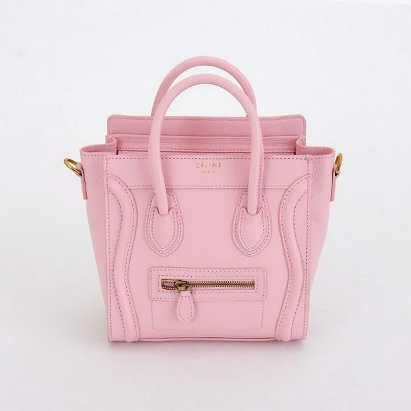 Celine Luggage Nano Tote Bag Calfskin Leather Baby Pink  Celine-233  -  €203.00 6806fbe5c96f9