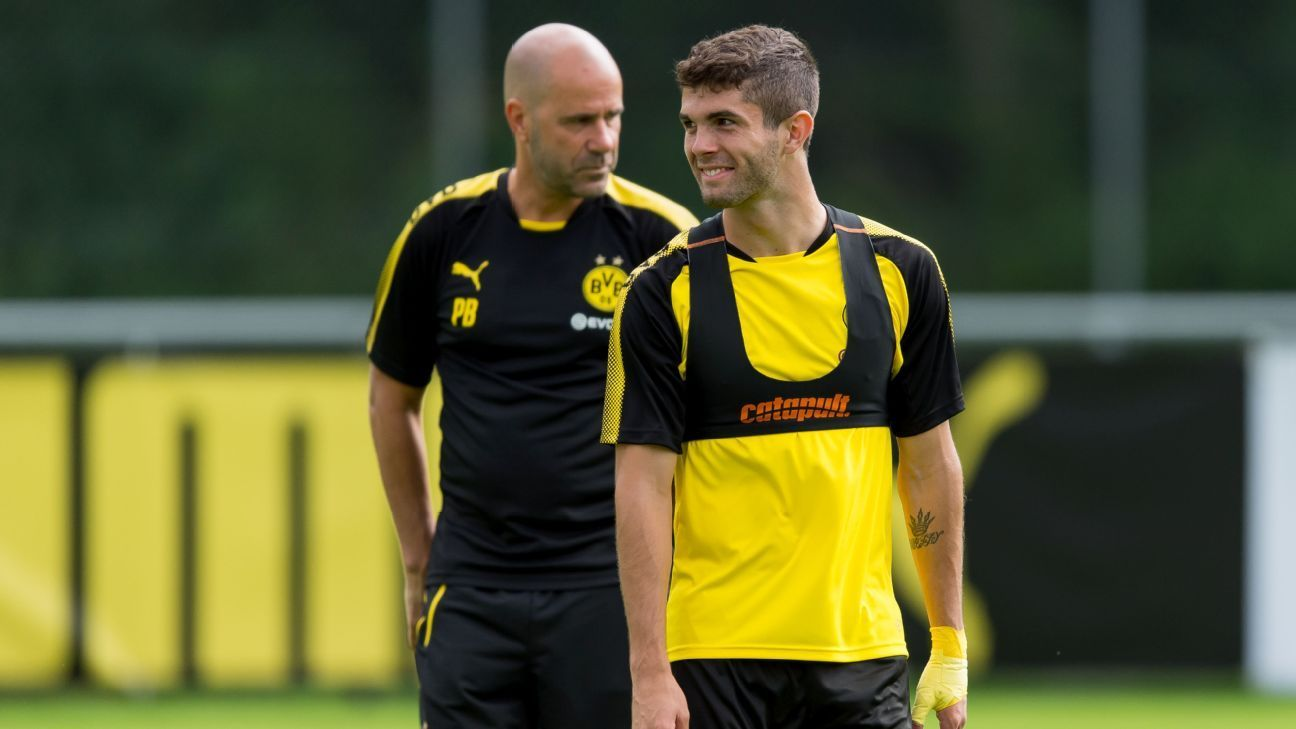 Christian Pulisic Should Win Golden Boy Award Dortmund Boss Peter Bosz Christian Pulisic Dortmund Christian