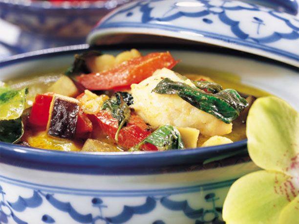 Zum Rezept Fisch-Curry mit Auberginen