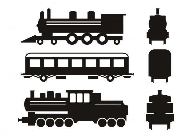 Download Train Silhouettes Set For Free Train Silhouette Silhouette Vector Silhouette