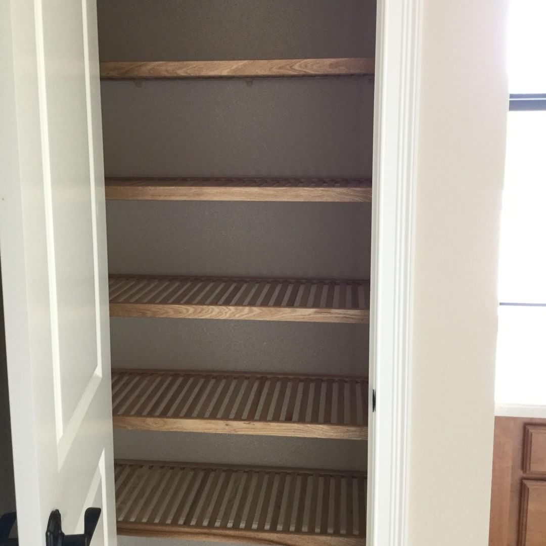 We Recently Outfitted This Pantry With Our Real All Natural Ventilated Wood Shelving What Do You Think