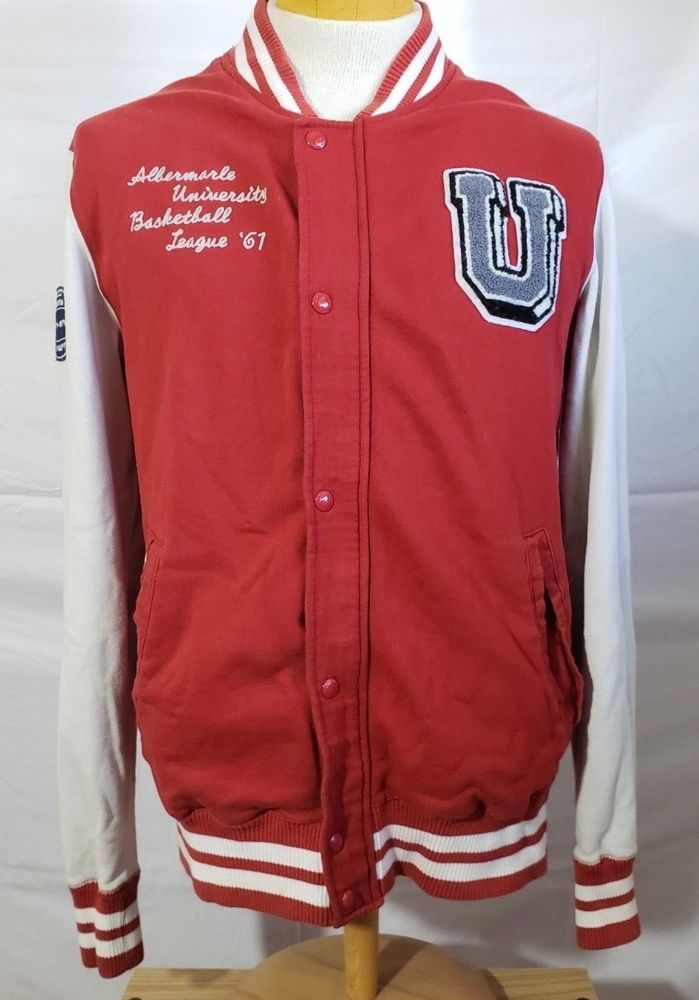 L Mens Jacket gBasketball o Style Red H amp;m g Letterman Ie2YDWEH9