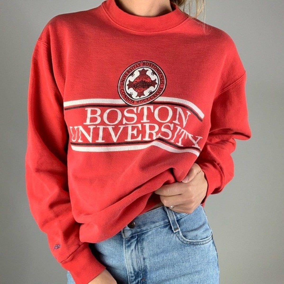 Vintage Boston University Red Crewneck S University Outfit Red Crewneck Boston University [ 1200 x 1200 Pixel ]