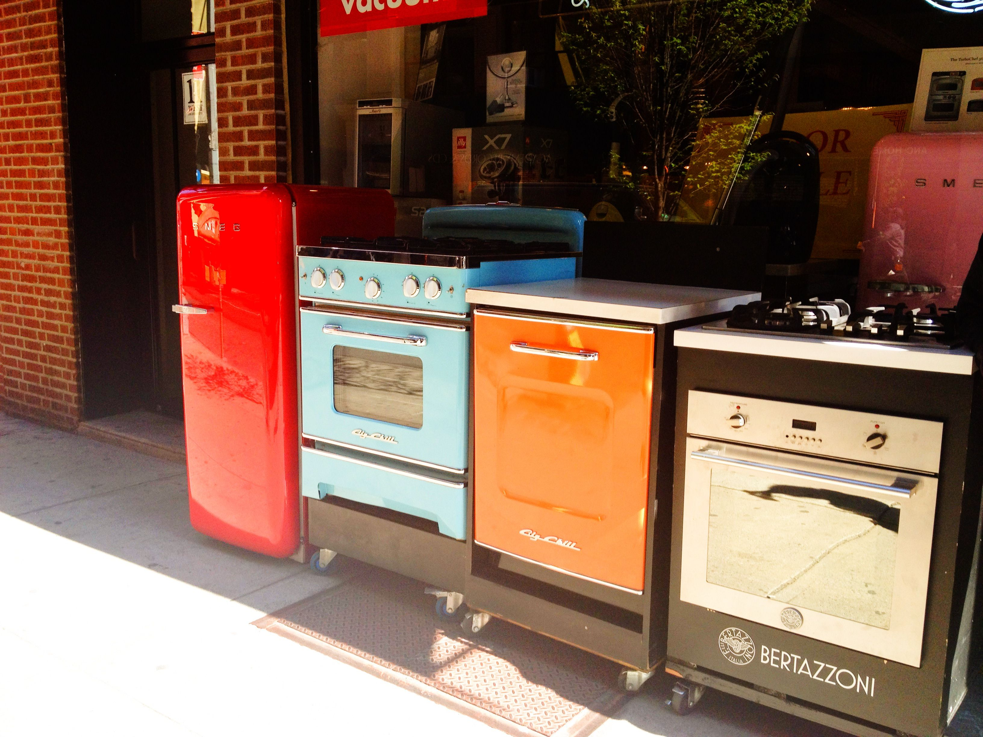 New Retro Appliances Being Delivered To A Story In