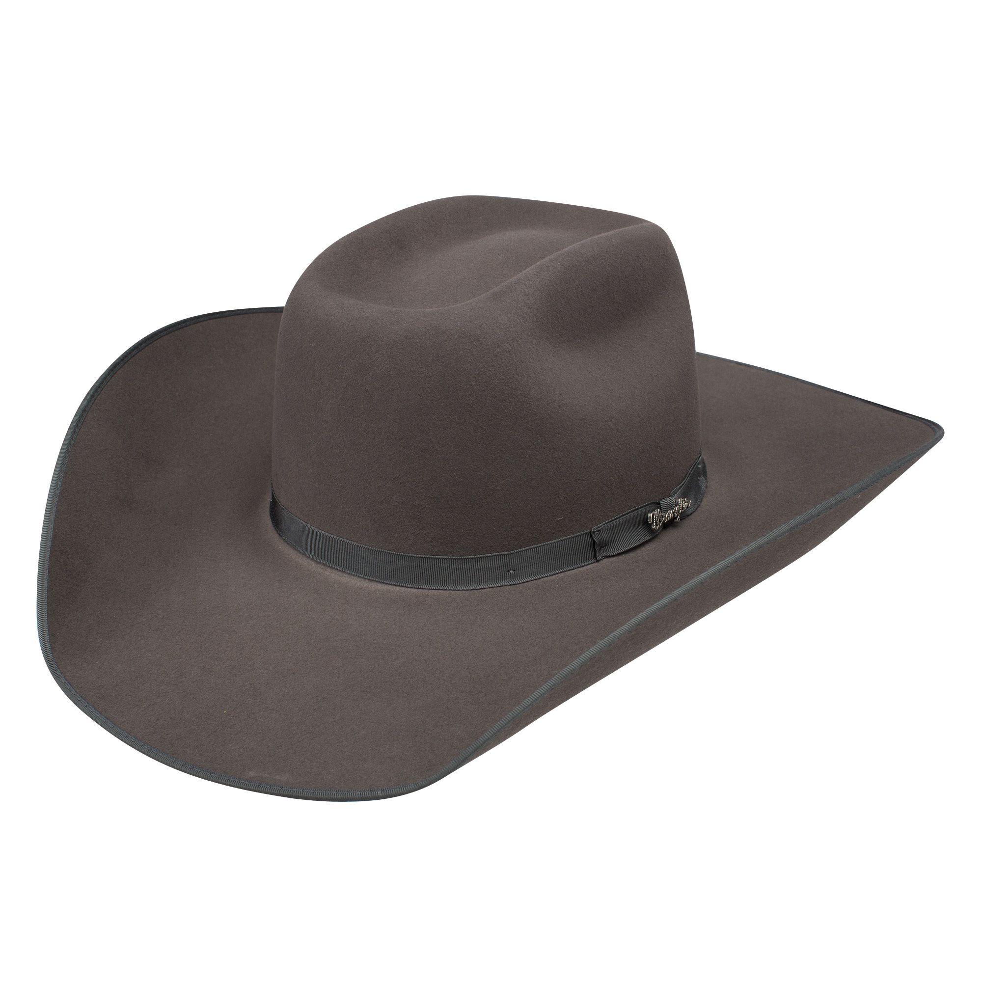 Pungo Ridge Wrangler Stillwater B Wool Hat Granite Grey