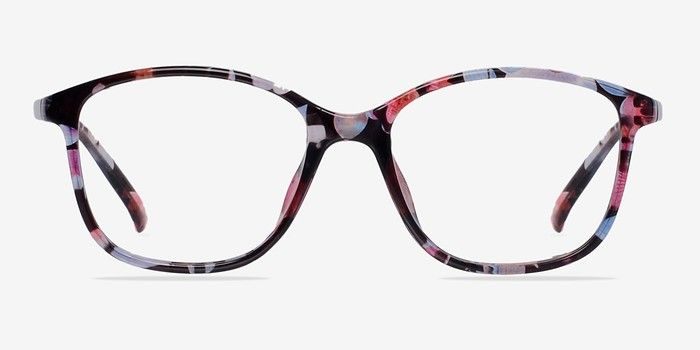 38e12b2fc760 Saint Lou Red Floral Plastic Eyeglasses from EyeBuyDirect. A fashionable  frame with great quality and an affordable price. Come see to discover your  style.