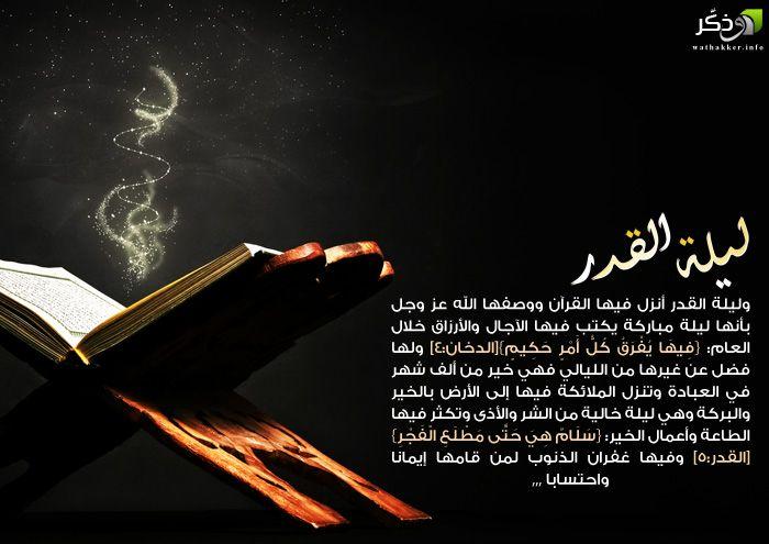 ليلة القدر ليلة مباركة Ramadan Quotes Style Me
