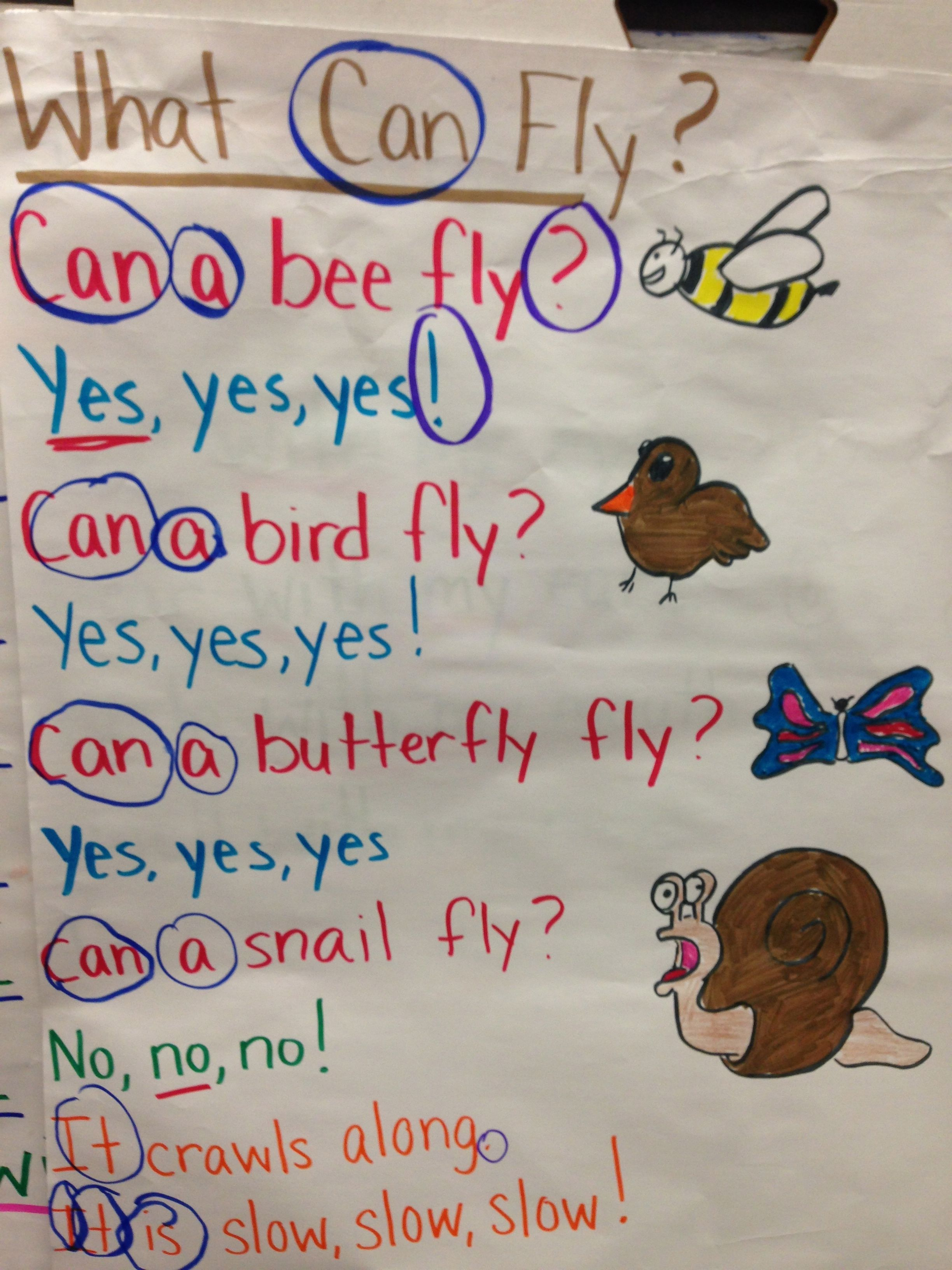 Great Sight Word Poem For Can Yes No