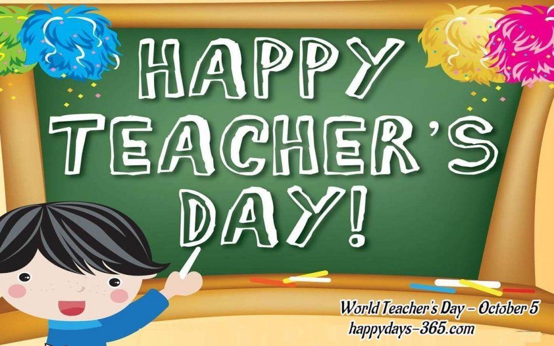 World Teacher S Day October 5 2019 Con Imagenes Feliz Dia