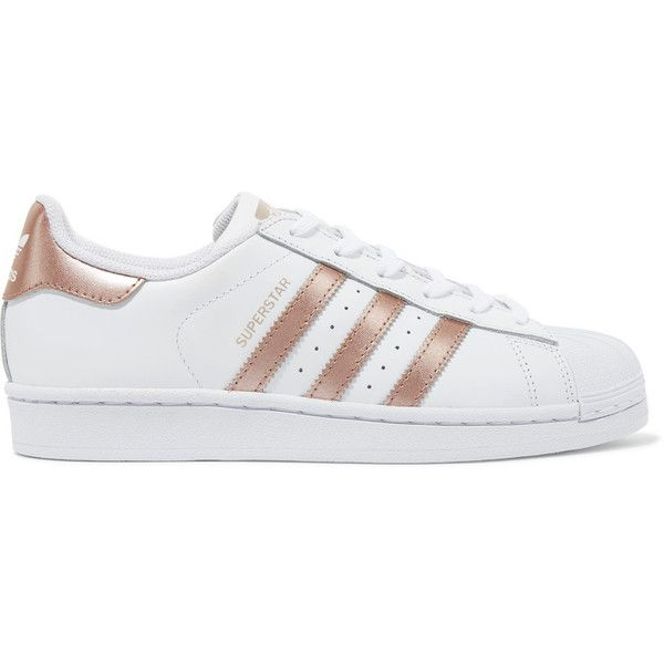 Superstar Metallic-trimmed Leather Sneakers - White adidas Originals nfUzI1U