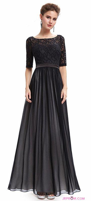 c290281b1b0 Scoop Prom Dresses A-Line Lace   Chiffon Mid-Length Sleeve Item  Code  JRPXC5RN6C