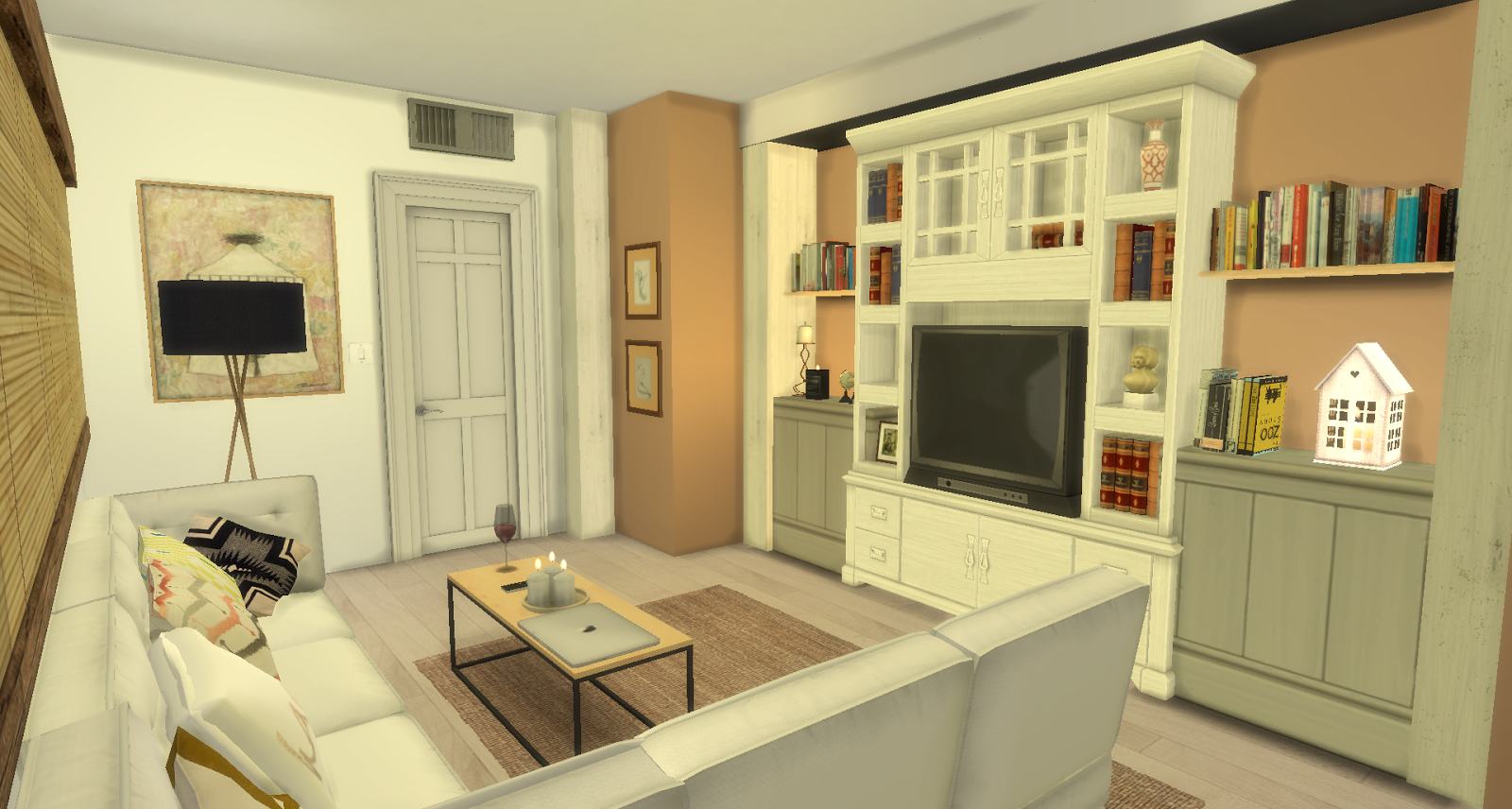Simple Life Den Living Room Sims House Sims Sims 4