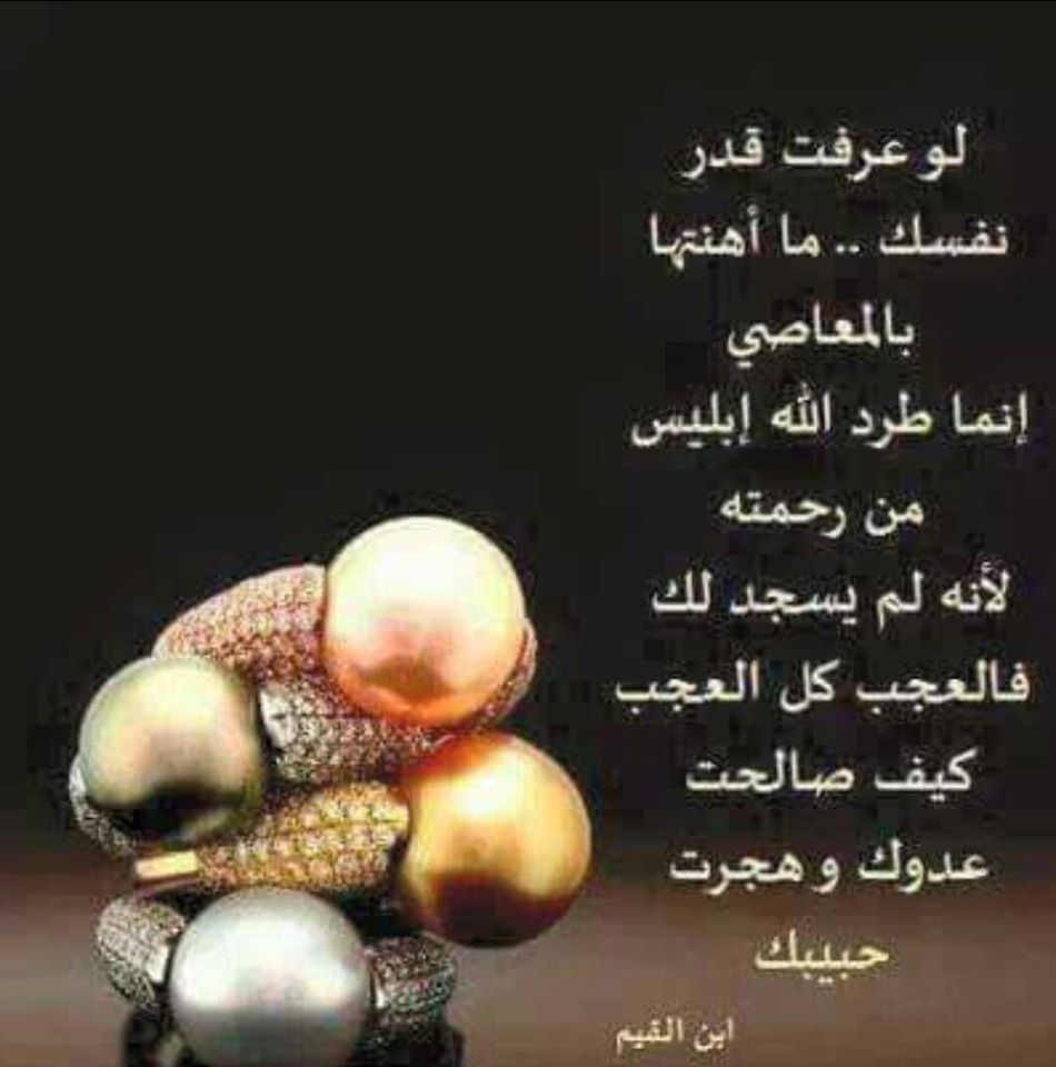 لو عرفت قدر نفسك ما أهنتها بالمعاصي إنما طرد الله إبليس من رحمته لأنه لم يسجد لك فالعجب كل العجب كيف صالحت عدوك و ه Cool Words Quran Verses Quran Tafseer
