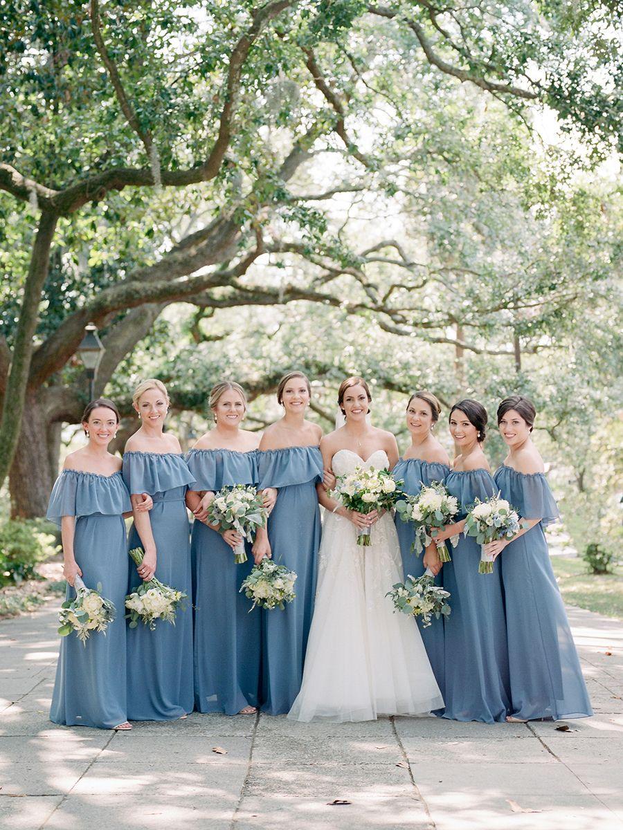 2017 Southern Wedding Favorites Bridesmaids And Ceremonies Southern Weddings Southern Bridesmaids Dresses Bohemian Bridesmaid Dress Blue Wedding Inspiration [ 1200 x 900 Pixel ]