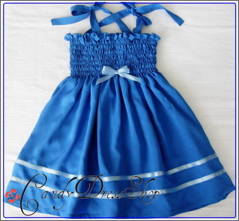 Dark blue dress for baby girls royal blue easter dress