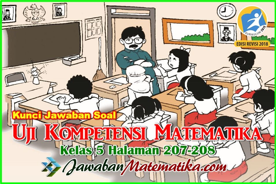 Kunci Jawaban Matematika Kelas 5 Halaman 207 208 Matematika Kelas 5 Matematika Buku